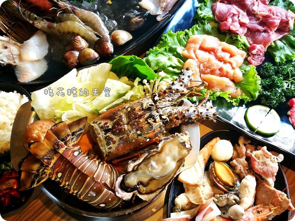 沙鹿火鍋‖驛庭鍋物超誇張!豪華頂級海陸套餐~龍蝦、生蠔通通有!溫體豬切片煮火鍋~口感真是棒!