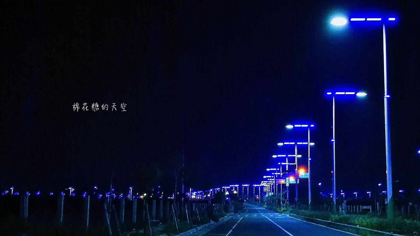 20180318232100 23 - 台中北屯新景點神秘藍色公路開通囉!藍紫色路燈好浪漫~
