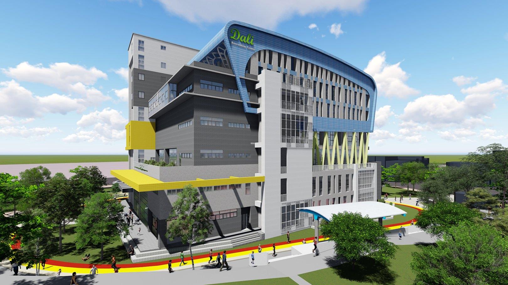 台中第五座國民運動中心動工啦!大里國民運動中心預計2020年10月完工