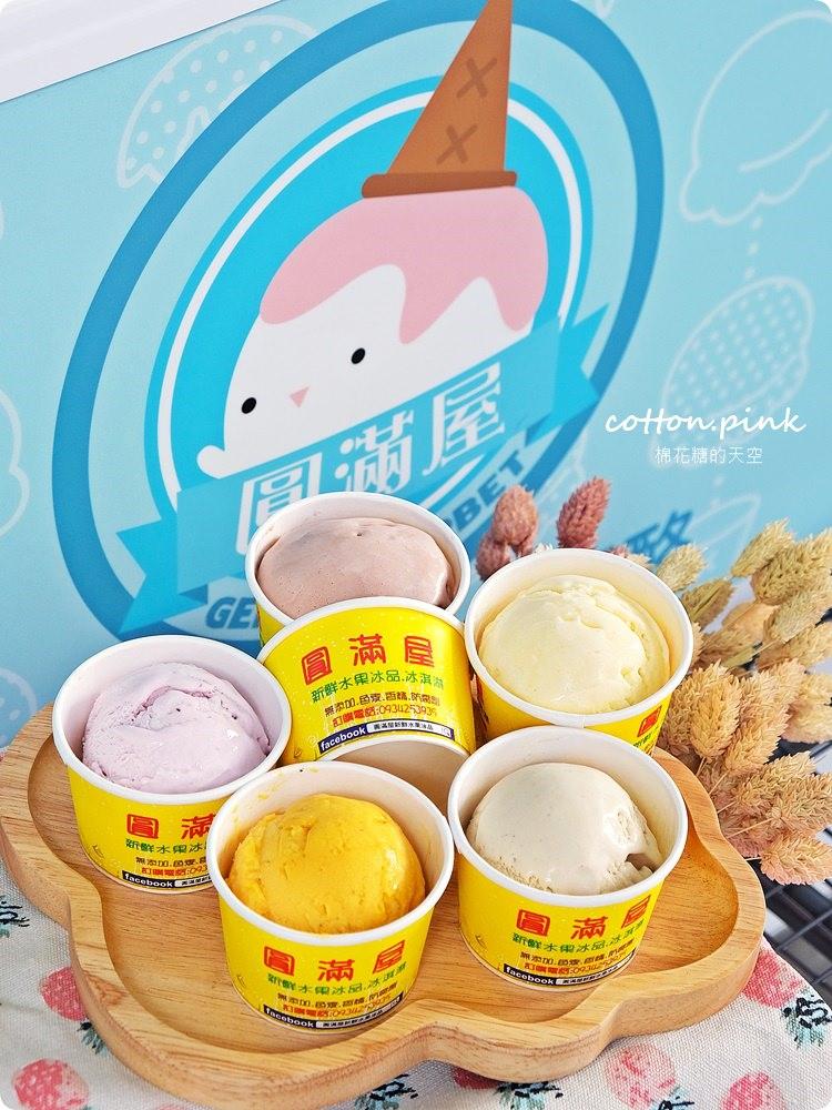 每日現做、限量供應,一中吃冰你一定不能錯過這家-圓滿屋新鮮水果冰淇淋