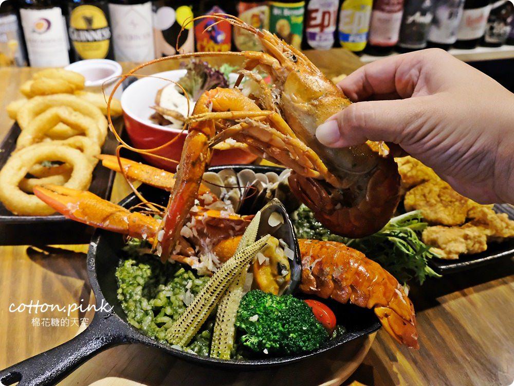 台中餐酒館推薦|大推薩克森餐酒館手工披薩外加超霸氣豪華龍蝦燉飯