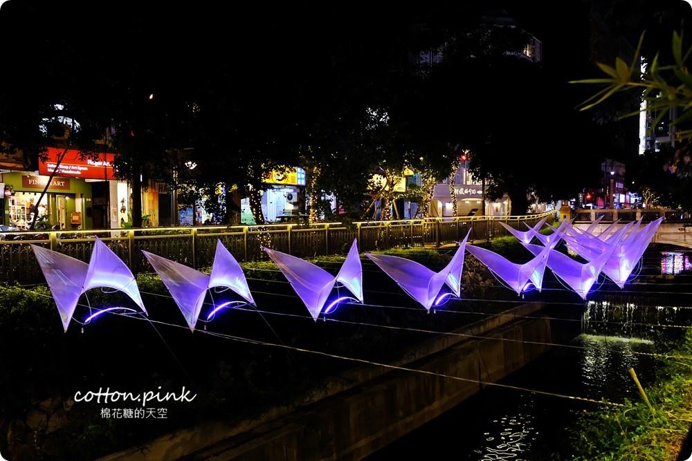 20181021215123 68 - 台中旅遊景點|台中綠川換新裝,IG打卡拍一波,夜裡亮燈超浪漫