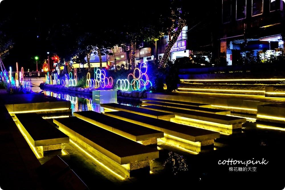 20181021215142 38 - 台中旅遊景點|台中綠川換新裝,IG打卡拍一波,夜裡亮燈超浪漫