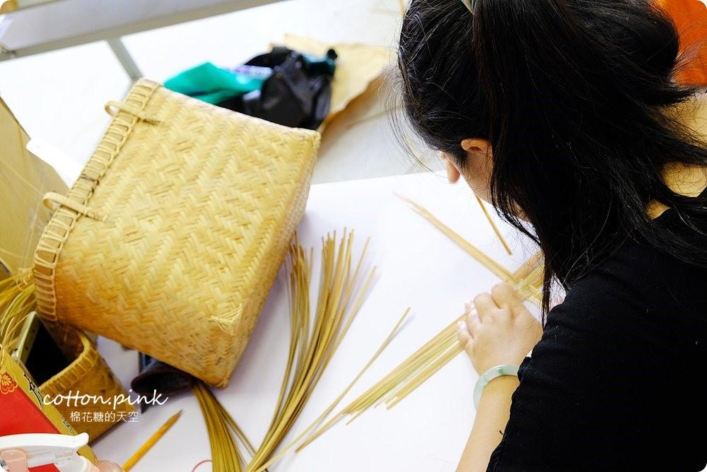 台中親子旅遊新據點-大里纖維博物館,週末不定期手作課程藺草、手環、羊毛氈、植物染通通有