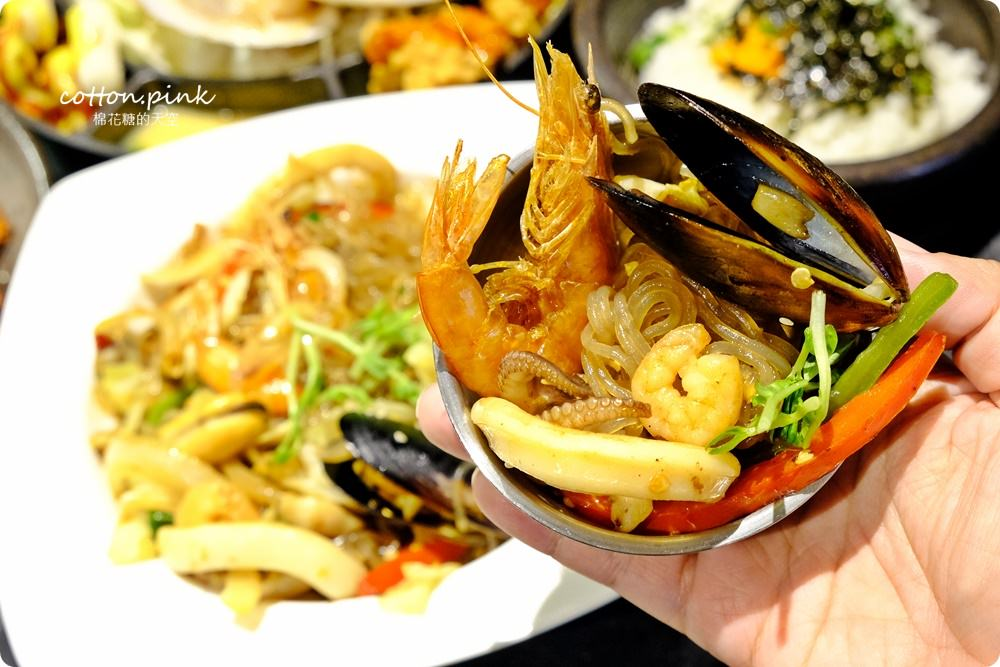 台中韓式美食 隱藏版韓式起司海鮮鍋在台中中科拉拉廚房牽絲啦!吃到痛風也願意!