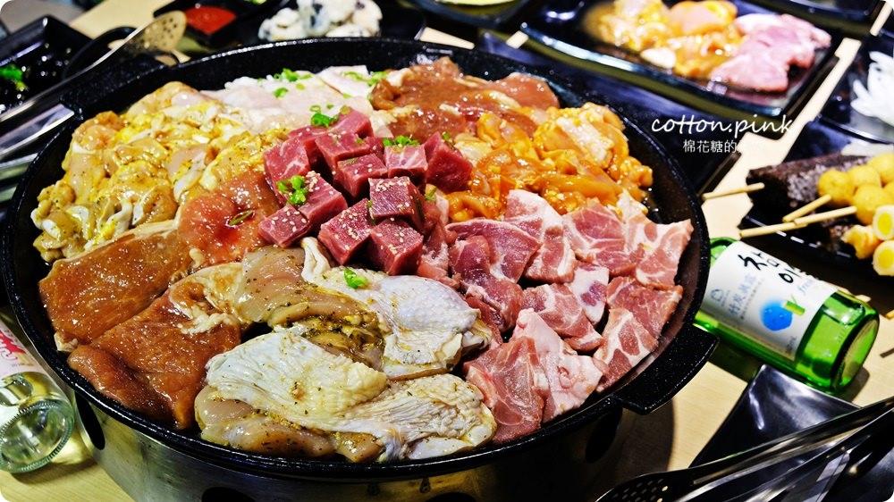 台中沙鹿韓式烤肉吃到飽!肉鮮生超狂肉山把我的胃淹沒啦~
