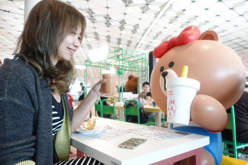 香港機場隱藏版熊大茶餐廳,Line Friends桌邊陪你喝港奶、吃菠蘿油-SONY RX100 M5出遊去