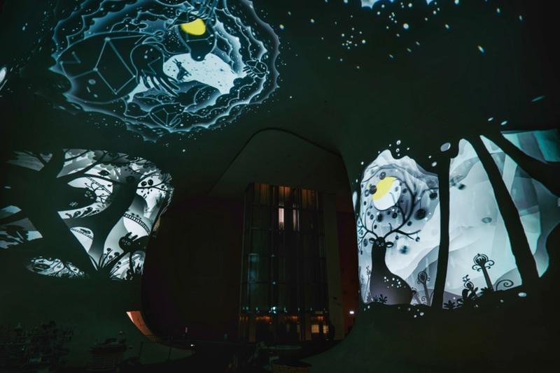 20181219160608 83 - 2018台中歌劇院最新聖誕活動開跑啦!限時兩周~魔幻曲牆光影秀免費參觀唷