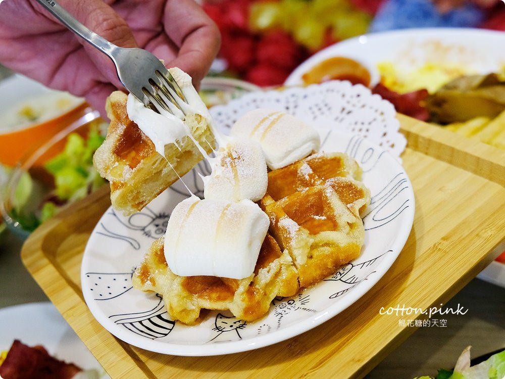 台中早午餐大推薦|轉角遇見超大份量早午餐,FUN輕鬆直接給你整條法國吐司