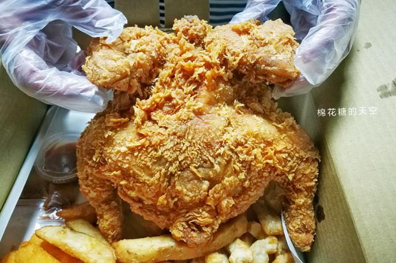 台中也有炸全雞!整隻雞炸到金黃酥脆太誘人~今天宵夜就到爆Q吃雞啦!
