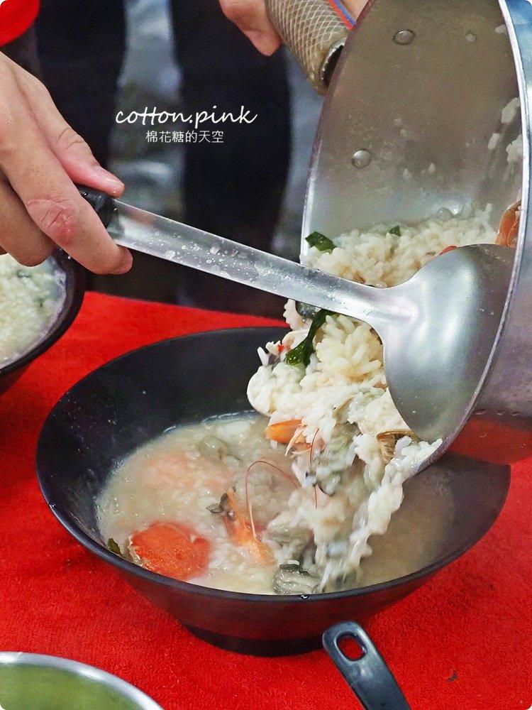 台中豐原最狂海鮮粥就在這!粥狂最新菜單現烤鮮蚵超大超甜美~