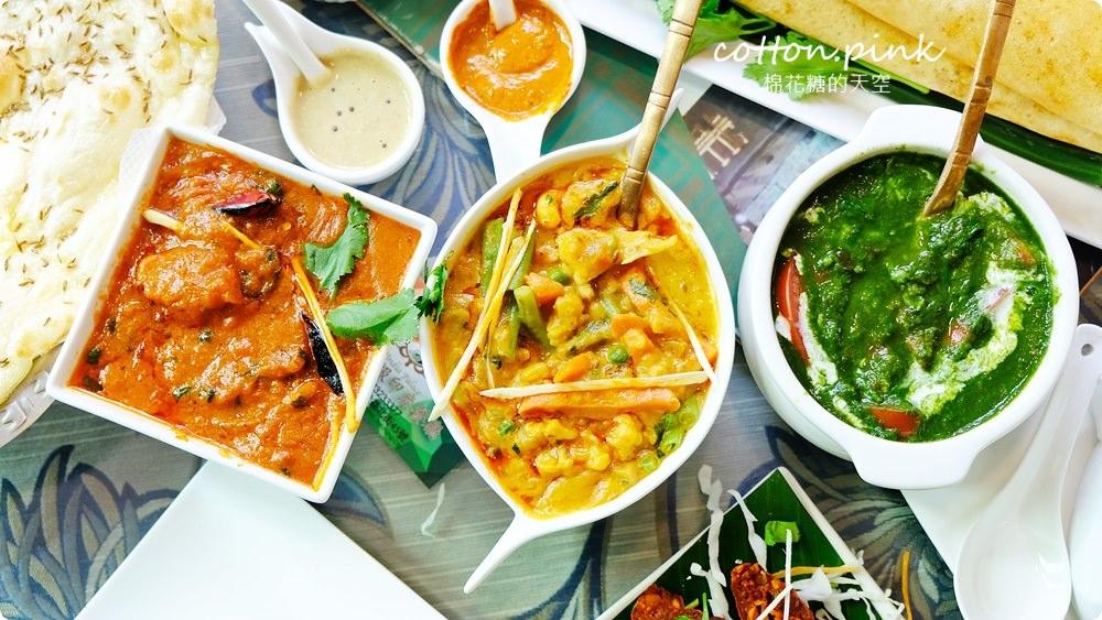 台中印度餐廳推薦|道地印度烤餅一大片不用100元,斯里印度料理光是咖哩就有超過20種!!