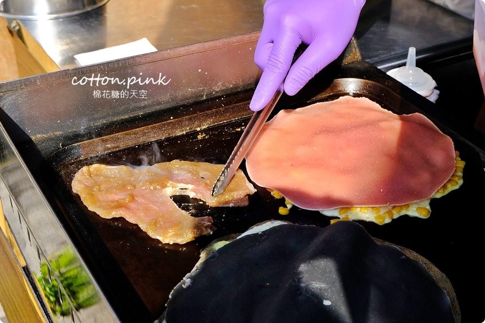 台中最新粉漿蛋餅~而且還有少女系粉紅色餅皮!柴老闆古早味蛋餅最新隱藏版口味會牽絲