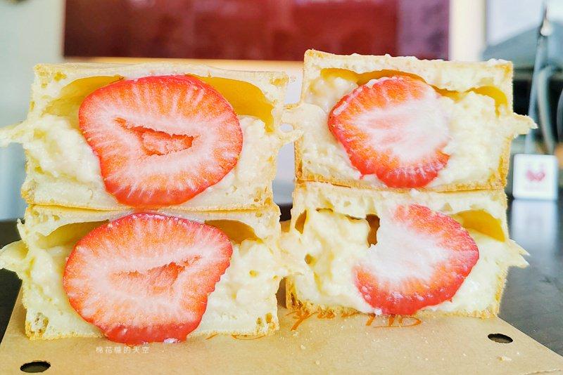 嘉義必吃紅豆餅-藏在巷子裏的法其樂季節限定草莓口味不能不吃