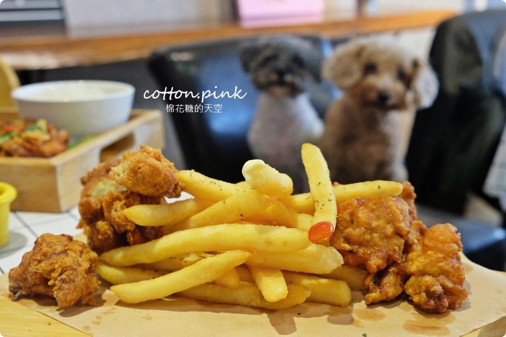 台中寵物友善餐廳推薦~究享cafe套餐附贈小火鍋,大推阿罵教的炸旗魚!