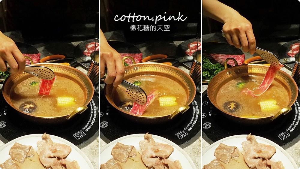台中最潮小火鍋-不只超好拍更好吃~月暮藏涮涮鍋和牛海鮮吃起來!
