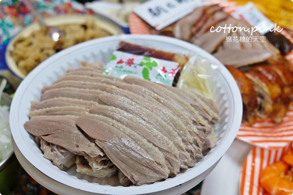 IG超夯!台中北平黃昏市場朝日鵝不能不吃!鵝肉嫩嫩超多汁、烤雞腿焦糖色澤超誘人