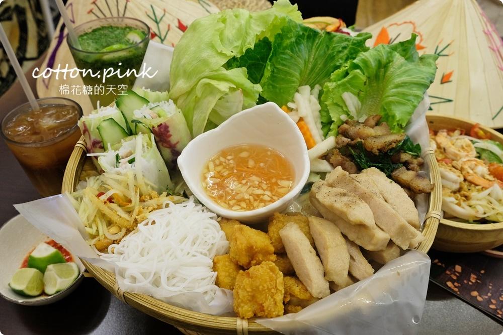 台中大里人氣越南料理|越好吃招牌推推鍋菜多的像小山一樣滿!