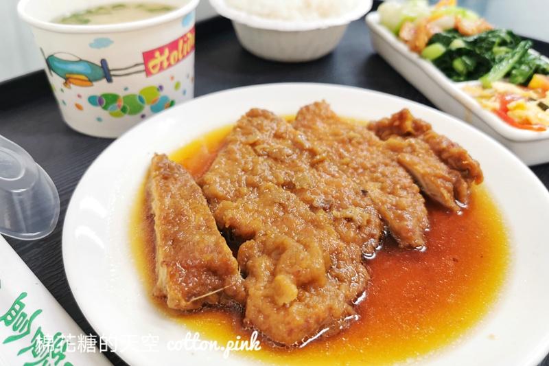 台中便當推薦|這家雞腿飯打開就流口水~石蜜園連白飯都好好吃!