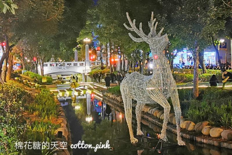 綠川上夢幻雪白麋鹿現身,點亮夢幻聖誕節~台中好YA誕聖誕活動即將開跑