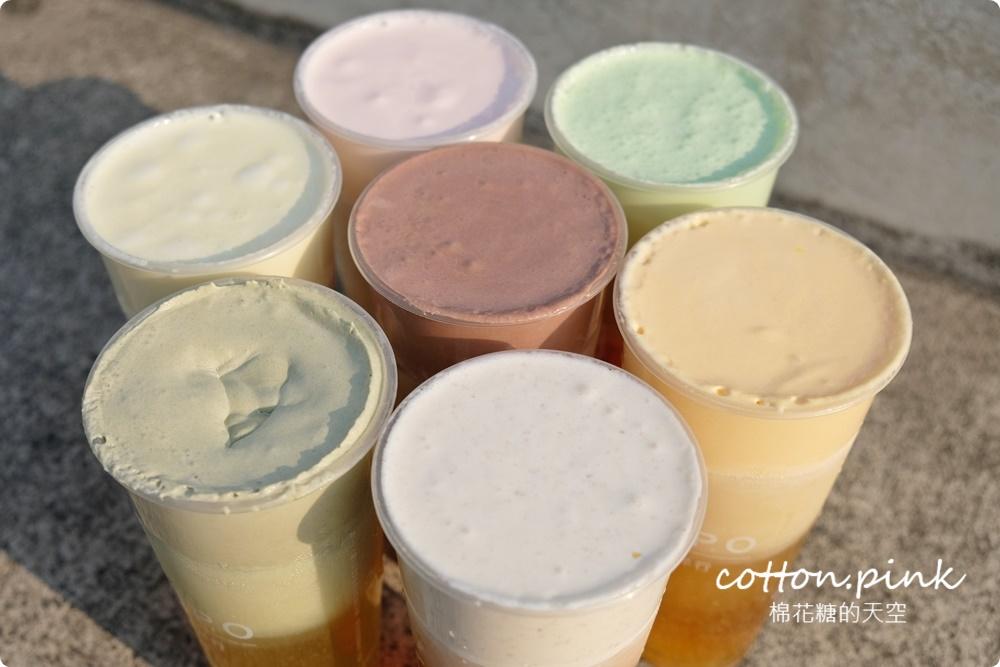 超狂七色奶蓋喝起來!台中第一家奶蓋茶專賣在豐原附近~白鬍泡泡打破傳統大創新