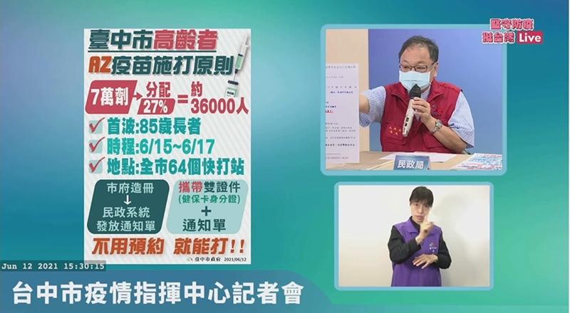 台中長者施打疫苗免預約~防疫措施持續更新中!
