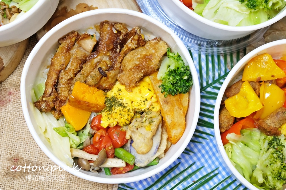 台中蔬食便當推薦|斐得蔬食外帶餐盒人氣超夯!最新口味植物肉排超厚超大塊~
