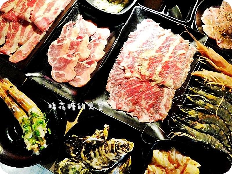 《台北美食》超豪邁武仕燒肉~和牛、牛舌、牛小排~培根、肥腸、菲力豬~還有超級大阿根廷魷魚!近南勢角站