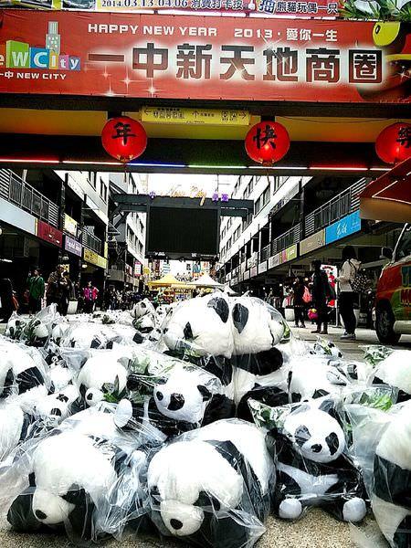 台中也有千隻熊貓任你照!駐點益民一中商圈療癒你的心!