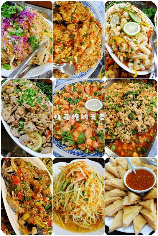 《台中美食》平價自助餐便當店竟然都是泰式料理!一個人也可以大吃多種泰式美食!
