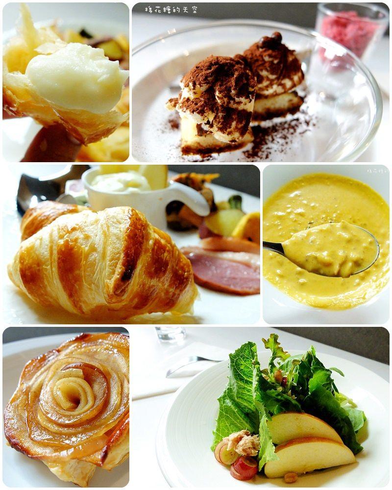 《台南美食》踏進L'esprit藍色大門,享受法式美味早午餐~每日限量15份!薯泥裡加松露、可頌麵團法國直送、餐後不只甜點竟然還有手工精品咖啡!
