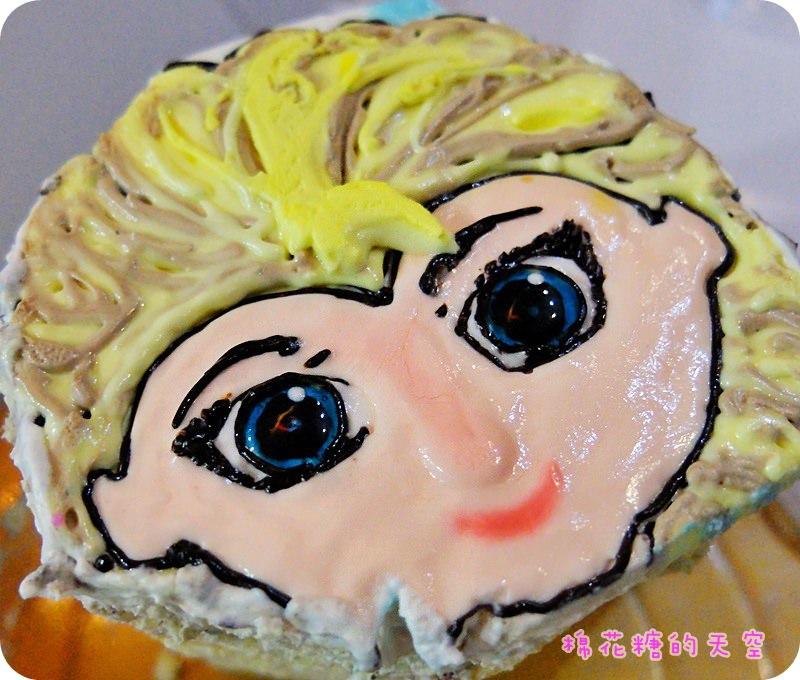 《台中甜點》東海Z Cake畫工了得~Elsa愛莎公主現身生日蛋糕!眼睛超級水噹噹的咧~