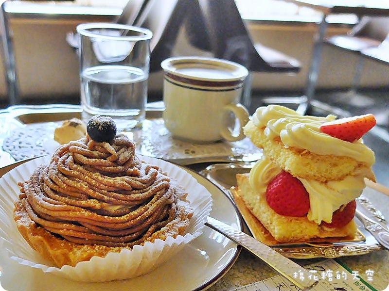 《台南甜點》濃濃復古風Kadoya喫茶店~多種手作甜點好迷人,蒙布朗裡頭有驚喜耶!
